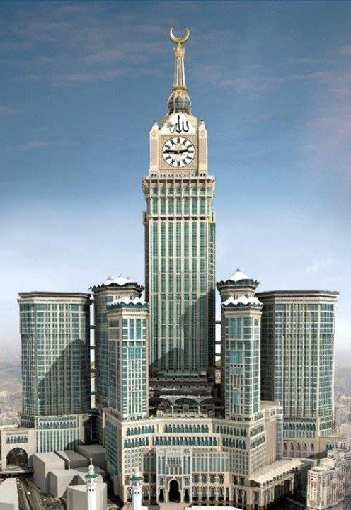 ˚Abraj Al Tower (Mecca Clock Tower) Mecca Saudi, Arabia (601 meters)