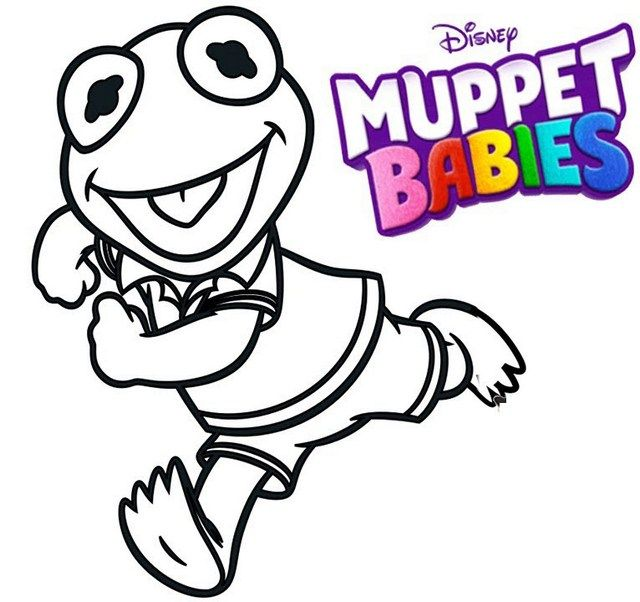 Pin Di Best Muppet Babies Coloring Sheets