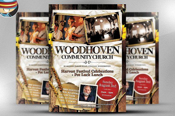 Woodhoven Harvest Flyer Template by FlyerHeroes on @creativemarket
