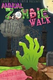 Zombie Walk Run Costume Party Event Parade Dead Halloween