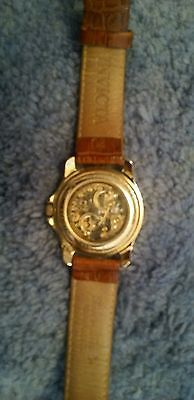 Invicta Leather Water Resistant Mechanical 17 Jewels Watch Mens