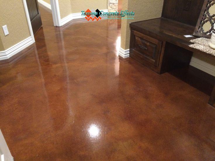 New Basement Concrete Floor Staining
