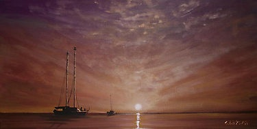 Purple Sunset at Sea... by Cherie Roe Dirksen --- Prints for sale (click on the picture)