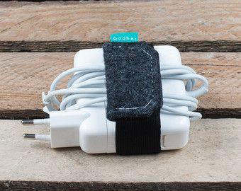 Organizador de cargador de MacBook, envoltura de cable, organizador de cable, caja de cable, cargador caja, Gopher