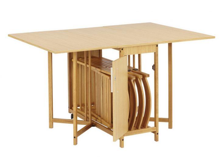Essgruppe Holz massiv Emeline-1 Klapptisch & 4 Stühle günstig kaufen | Möbel Onlineshop Kauf-Unique.de