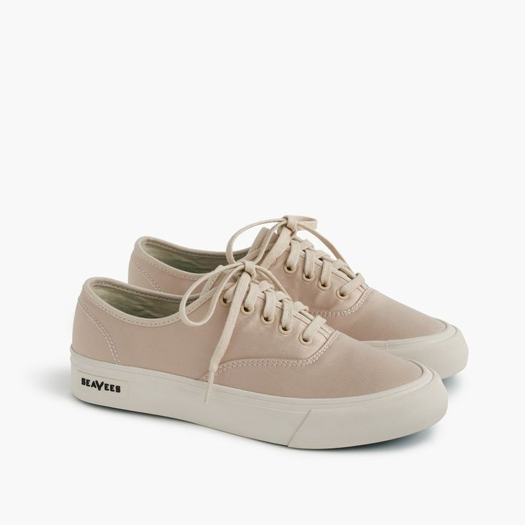SeaVees has been creating casual footwear inspired by the California coast since the 1960s. These iconic Legend sneakers were first designed in 1964, which means they're over 50 years old and still going strong. Even better: You'll only find this luxe satin version here. Satin upper. Cotton lining. Rubber sole. Import. Online only.