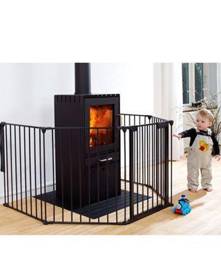 Buy your BabyDan Hearth Gate - Black - 60 - 300cm from Kiddicare Fire Guards| Online baby shop | Nursery Equipment