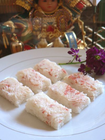 ズワイガニの押し寿司