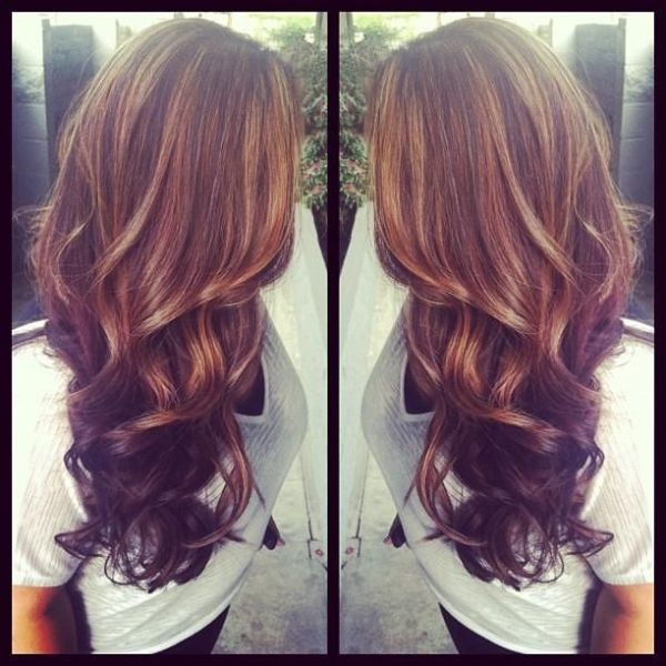 brown hair with thick auburn highlights | Collect Collect this now for later