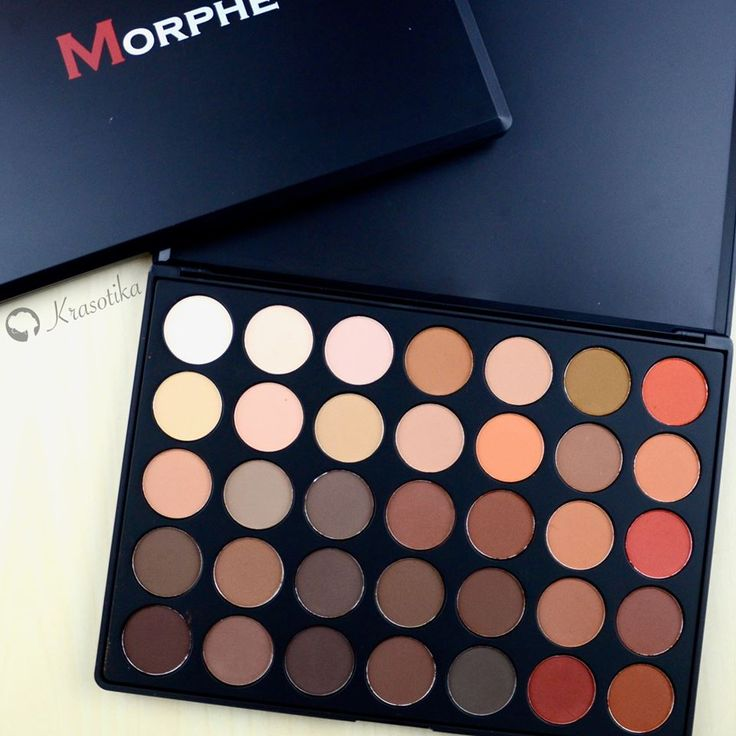 Krásne farby, dokonalá pigmentácia! Paletka očných tieňov Morphe 35OM Color Matte Nature Glow Eyeshadow Palette.