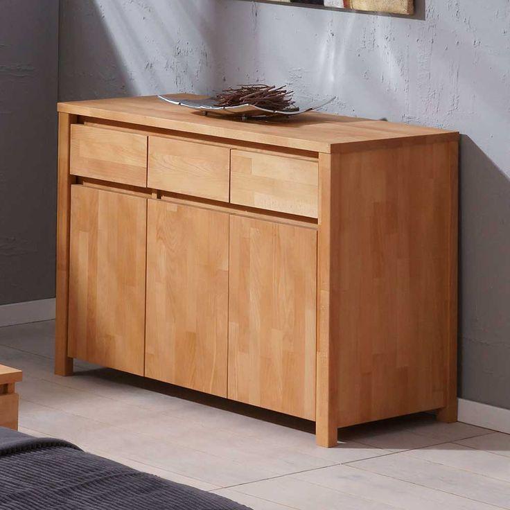 Cool Wohnzimmer Sideboard aus Buche Massivholz modern Jetzt bestellen unter