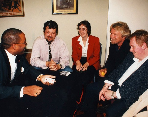 Michael Vincent and Richard Branson.
