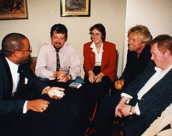 Michael Vincent and Richard Branson.