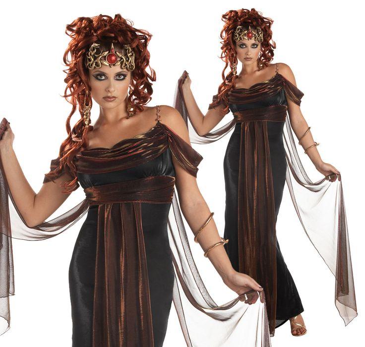 schwarzes medusa kostüm