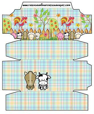 Cajitas imprimibles de la granja 2. Fiestas infantiles. - Ideas y material gratis para fiestas y celebraciones Oh My Fiesta!