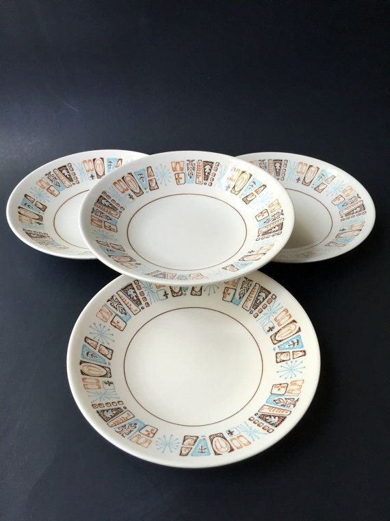 Set of Four Atomic Harmony House Marimba Bay by GatewayHeirlooms & 105 best Dinnerware images on Pinterest | Cutlery Dinner ware and ...