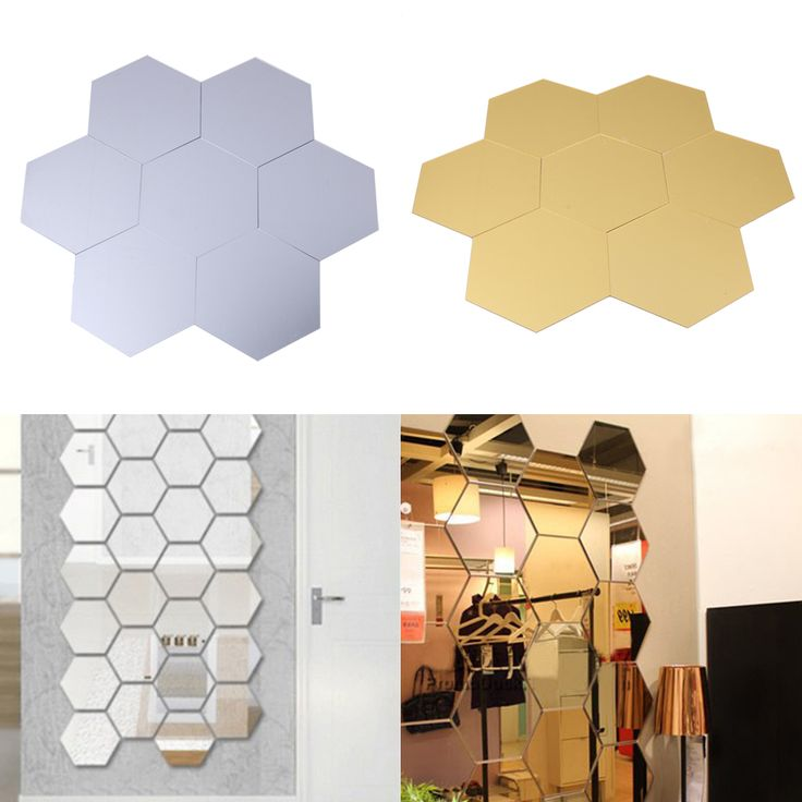 7pcs 3D Crystal Stereo Mirror Wall Stickers Home Decoration Honeycomb Hexagon Mirror Stickers Accessories  for Living Room -in Wall Stickers from Home & Garden on Aliexpress.com | Alibaba Group