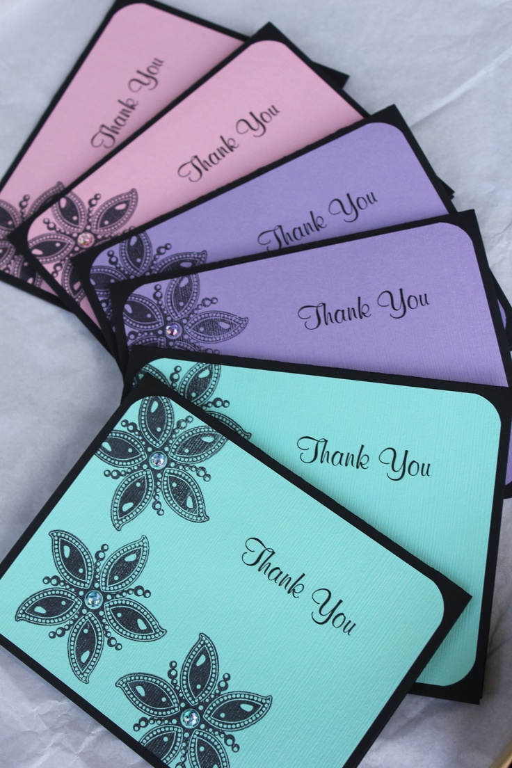 10 Best Thank You Cards Images On Pinterest Handmade Cards