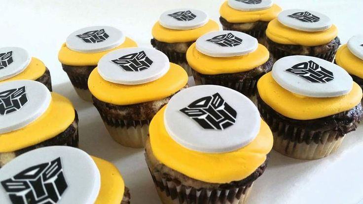 Transformers cupcakes by Your Hunny's Bakery