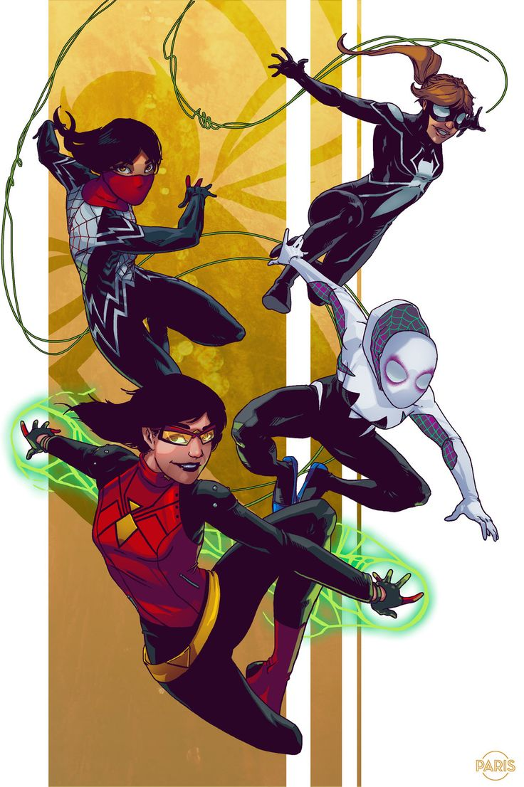 8bitmonkey:Spider-Women! \ Paris Alleyne Deviant Art || Twitter || Follow!