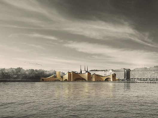 See All 1,715 Entries to the Guggenheim Helsinki Competition Online,GH-6139012611. Image Courtesy of Malcolm Reading Consultants