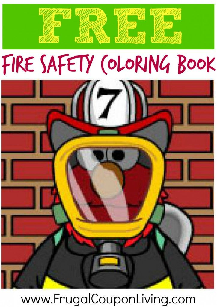 FREE Fire Safety Coloring Book from Sesame Street | chances ...