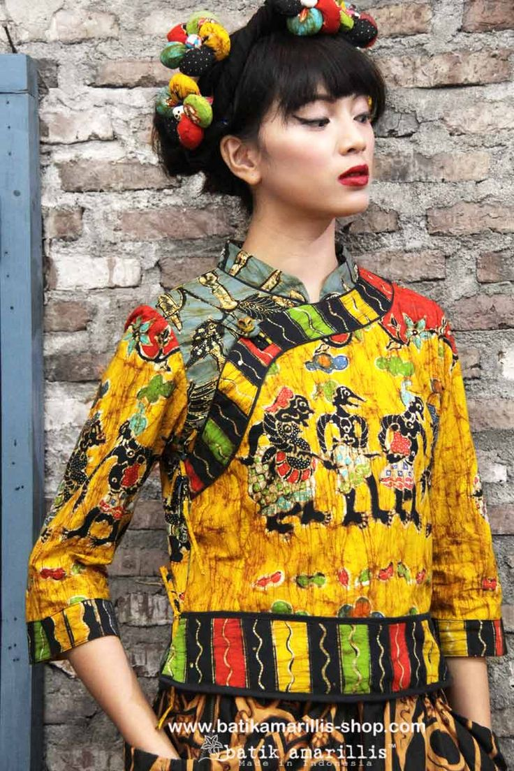 batik amarillis's joyluck jacket in handrawn batik wonogiren wayang series Ethnic inspired outfit to bring you Joy & Luck.. beautiful reinvention of classic Qipao with exquisite detailing such as color combos,handmade chinese frog button,fittingly beautiful & it provides the ideal combination of comfort & style batikindonesia#  #handdrawnbatik #batiktulis #batikindonesia #handdrawn  #art #fashion #dress #ethnic #fashioneditorial #madeinindonesia #localbrand #qipao