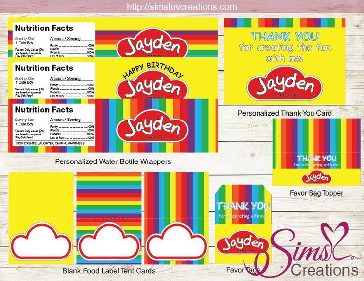 playdoh birthday party kit play doh party printables