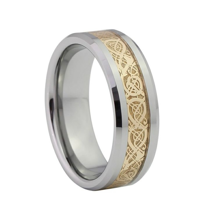 Men's Gold Dragon Tungsten Ring, $125.00 (http://www.june26.ca/mens-gold-dragon-tungsten-ring/)