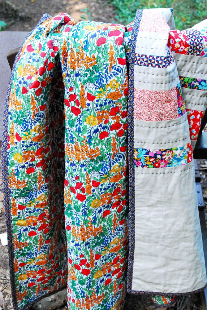 Liberty of London fabrics make me drool! Wish I could be enough for a quilt!