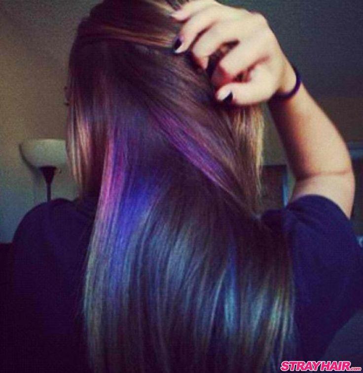 subtle purple hair