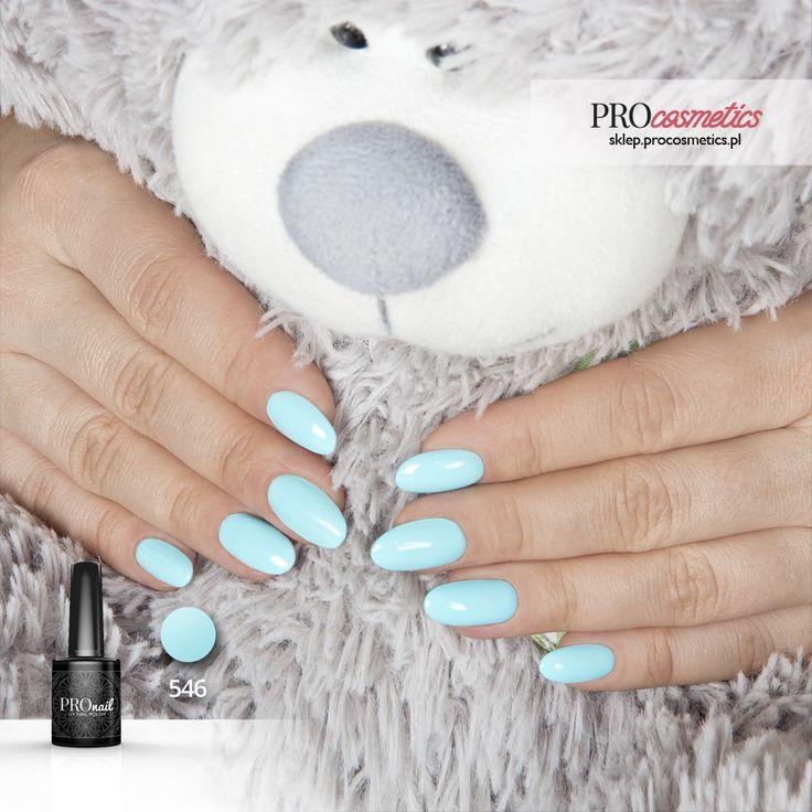 Lakier hybrydowy PROnail 546  - Chmurkowy Błękit - pastelowy błękit, niebieski