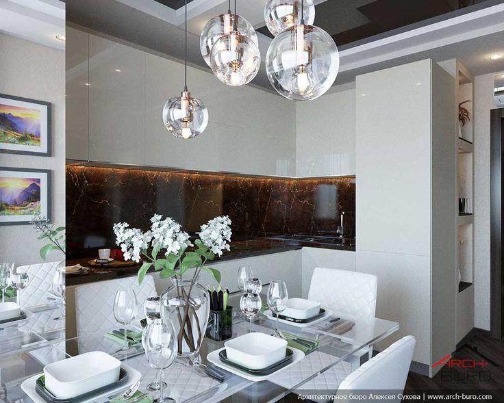 Дизайн кухни 10 кв.м с круглым белым столом в стиле минимализма Интерьер выполнен в стиле минимализма и привлекает внимание своей свежестью и ненавязчивой простотой. В дизайне применены контрастные цвета – черный с белым. Их смягчают разные оттенки натурального дерева, привнося в помещение ощущение тепла и уюта. Материалом для напольного покрытия служит дубовая паркетная доска. Ее … … Читать далее →