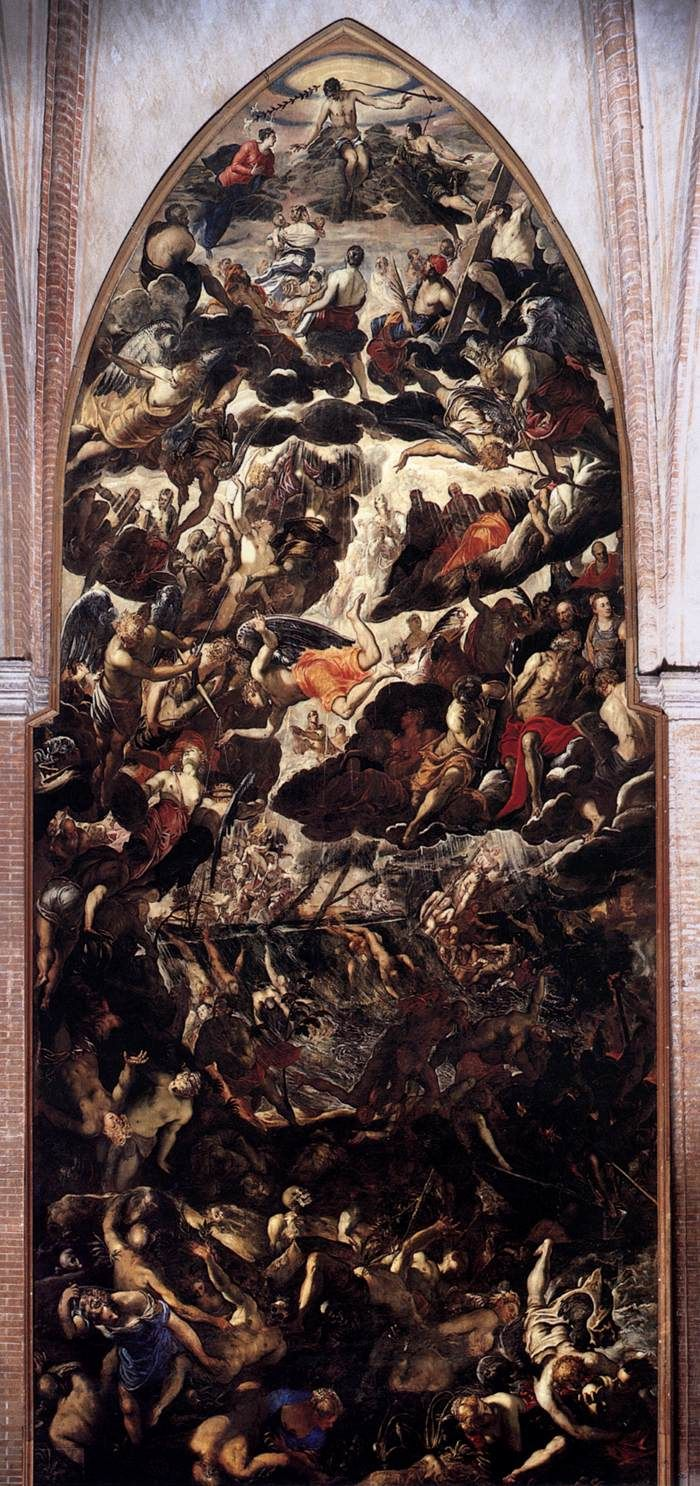 The Last Judgment by TINTORETTO -Start Date: 1560;   Completion Date:1562