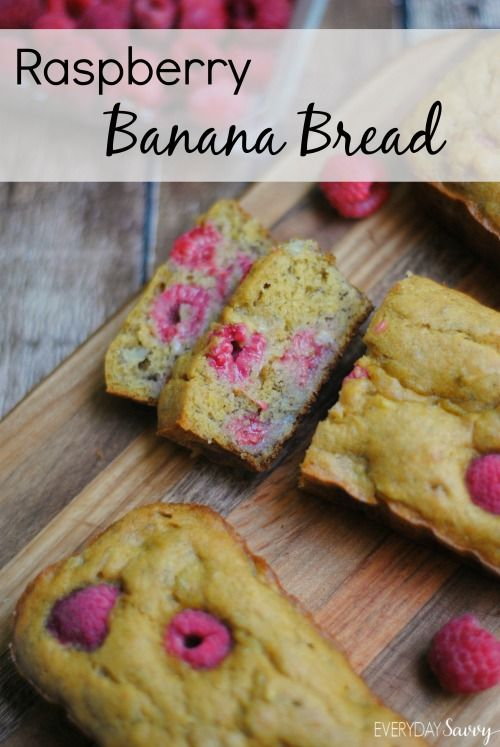 Check out this yummy raspberry banana bread recipe. It has fresh fruit and whole wheat flour.