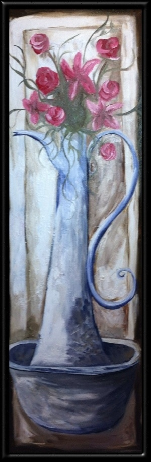 OIL on Boxed Canvas  31 X 91 cm  For sale  R500