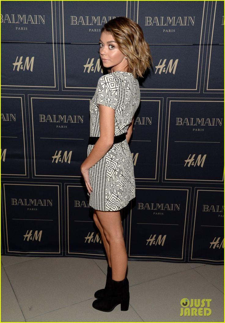Jaime King & Sarah Hyland Attend Balmain x H&M Pre-Launch