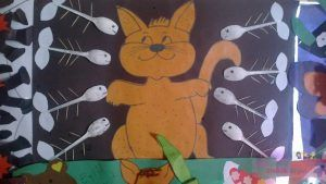 cat and fish bulletin board idea
