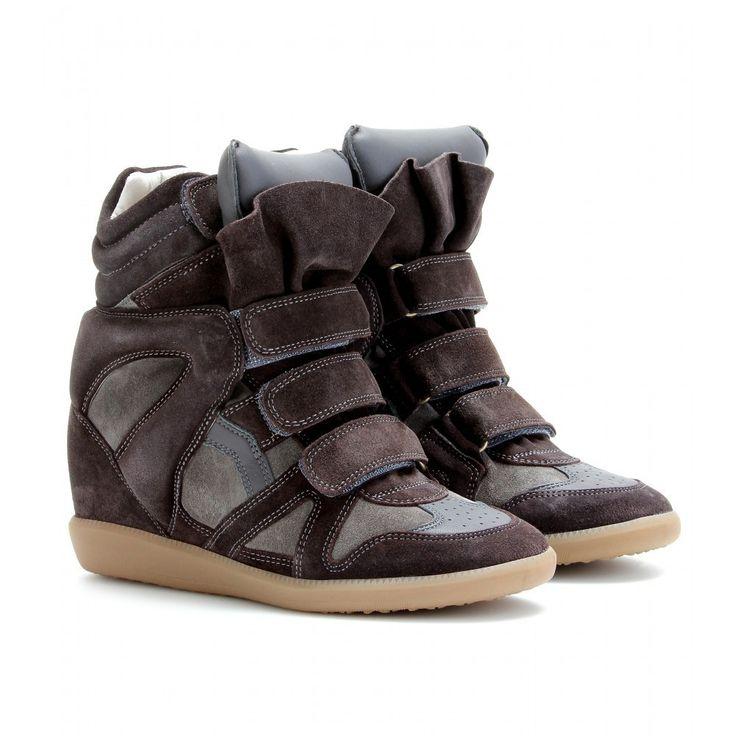Emergency Low Price Isabel Marant Suede Bekett Wedge Sneakers Taupe
