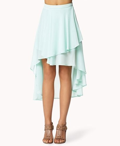 tiered high low skirt from forever 21 on shop catalogspree