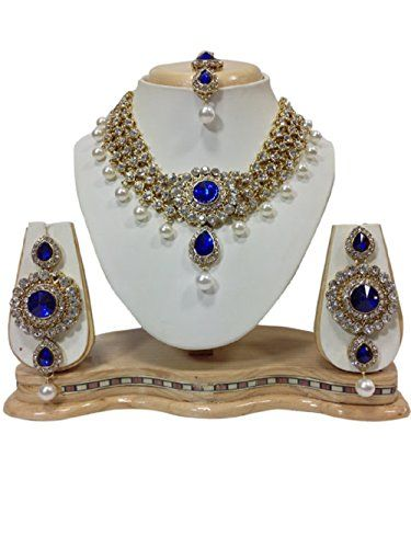 Indian Bollywood Style Blue Stones White Pearls CZ Gold P... https://www.amazon.com/dp/B01J9O2ZG4/ref=cm_sw_r_pi_dp_x_2ovSyb38W18B6