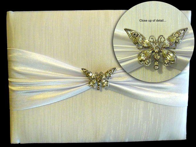 Diamante Butterfly Guest Book http://www.aussieweddingshop.com.au/Product/46/diamante-butterfly-guest-book