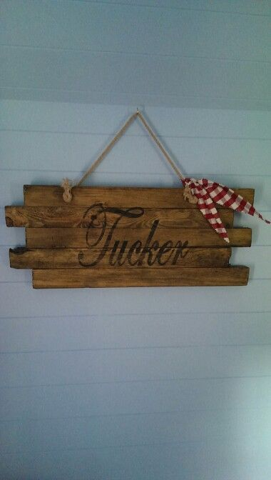 Boys playhouse.. ranch themed.. i love this sign and it took me all of 15 mins to make.. it does help that we own a timber mill..