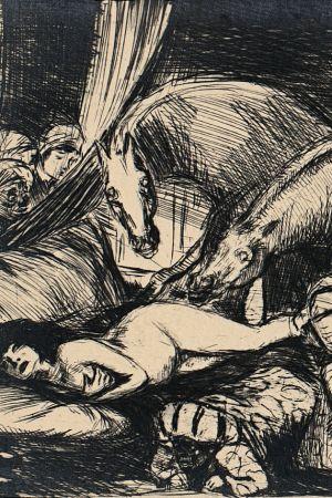 Stallions and eunuchs by Bruno Schulz, [ca 1920-1922]. Jagiellońska Biblioteka Cyfrowa, Public Domain