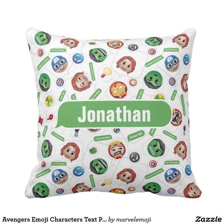 Avengers Emoji Characters Text Pattern. Producto disponible en tienda Zazzle. Decoración para el hogar. Product available in Zazzle store. Home decoration. Regalos, Gifts. #cojín #pillows