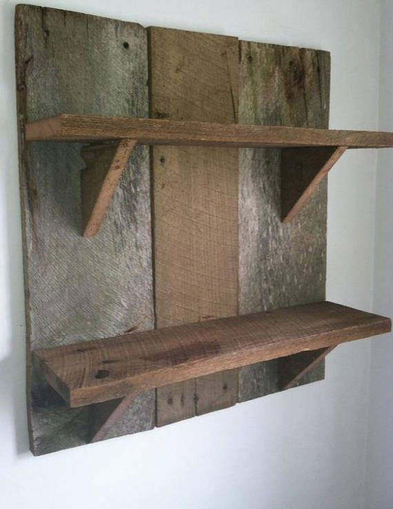 Barn Wood Three Tier Shelf Huge Summer Sale 30 Off