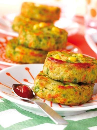 Beignets de poulet aux légumes : Recette de Beignets de poulet aux légumes - Marmiton