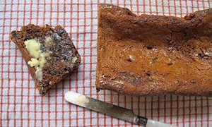 Felicity Cloake's perfect malt loaf. Great recipe, although it does require quite a lot of malt extract.