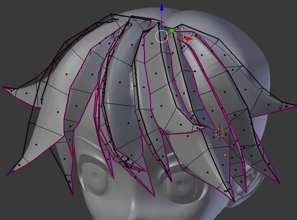 Polygon Modeling Hair  https://twitter.com/DIGITAL_POT/status/524217673484206080
