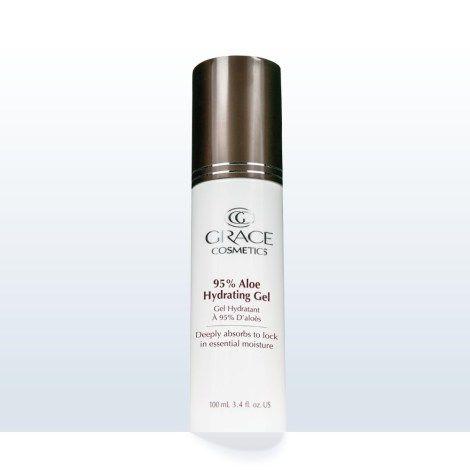 95% certified organic aloe hydrating gel.  Natural skin care regime cosmeceutical